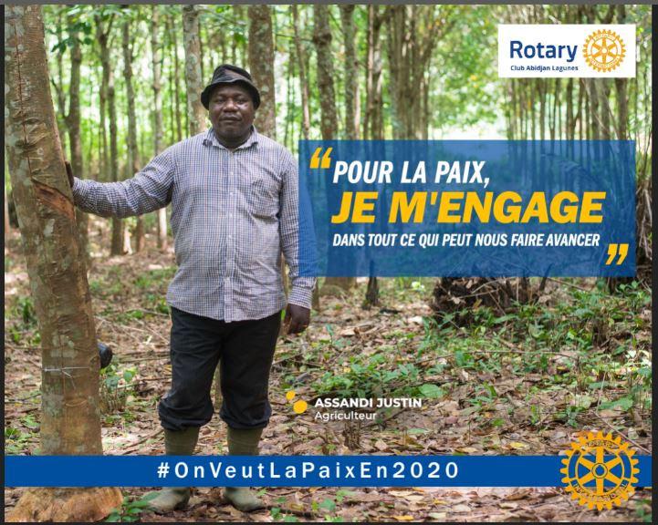 Campagne de paix du Rotary Club Abidjan Lagunes
