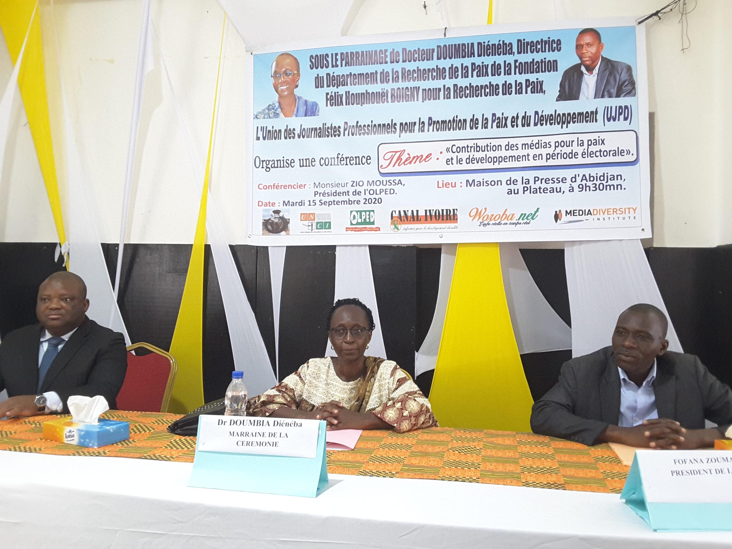 CÔTE D'IVOIRE, PRÉSIDENTIELLES 2020 : L' UJPD EXHORTE LES ACTEURS DES MÉDIAS À ÊTRE DES ARTISANS DE PAIX
