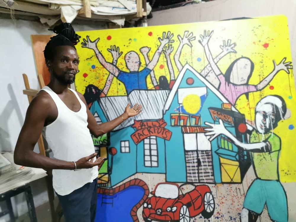 Côte d'Ivoire /Concours LYDYA LUDIC TALENTS : Jean Baptiste DJEKA présente son œuvre :»le Jackpot»